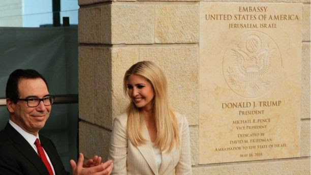 USA Secretary of Treasury Munichin and Ivanka Trump