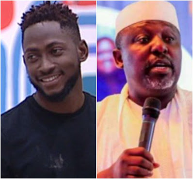 BBNAIJA Winner Miracle Igbokwe and Imo State Governor Rochas Okokrocha